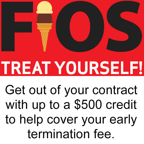 Verizon Fios : Up to $500 Credit when you switch
