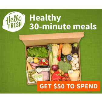 Hello Fresh : $25 off your 1st 2 Boxes