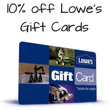 10% off $100 Lowe's Gift Card : Only $90