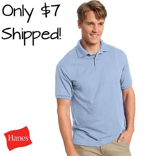 Men's Hanes Polos : $6.99 + Free S/H