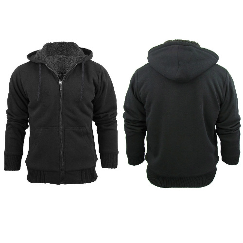 Men's Sherpa Lined Hoodie : $11.99 + Free S/H