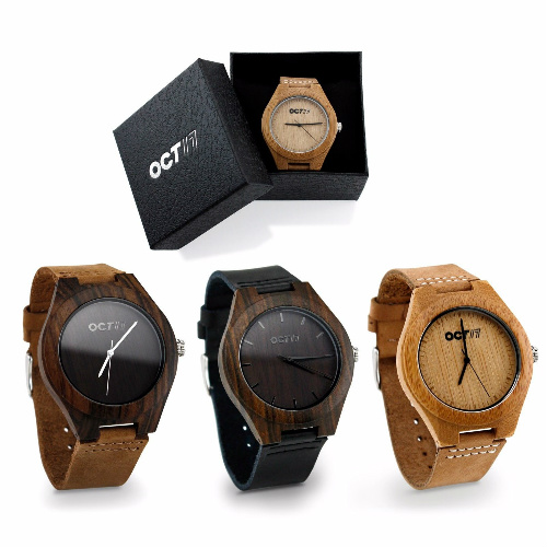 Men's Wood Watches : $19.99 + Free S/H
