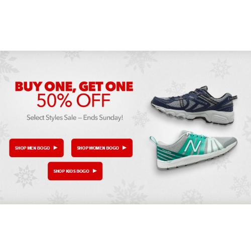 New Balance Sneakers : Buy 1, Get 1 Half Off