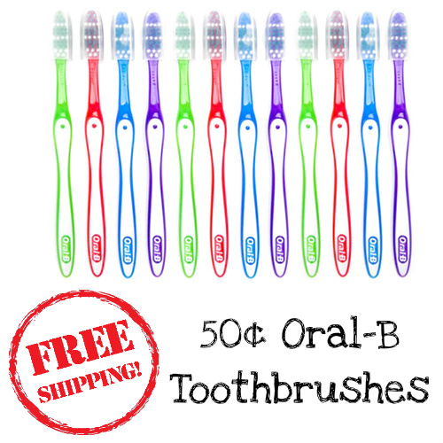 85% off 12 Oral-B Toothbrushes : $5.99 + Free S/H