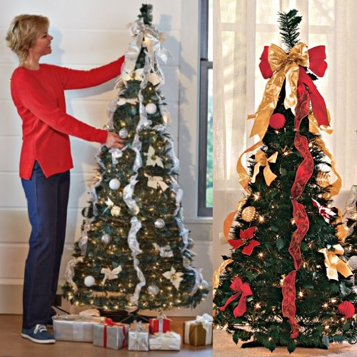 75 Off Pull Up Decorated Christmas Trees Only 17 97