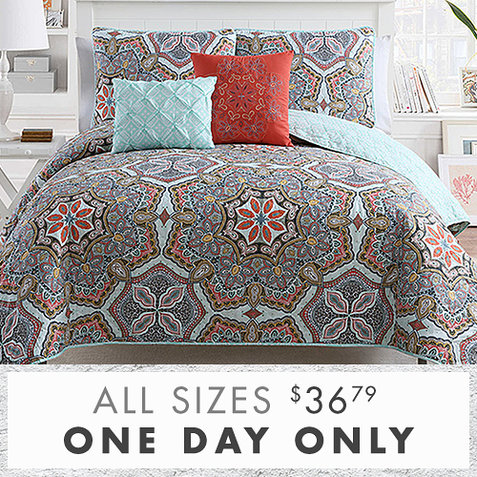 Up to 75% off 5-PC Quilt Sets : Only $36.79 any size