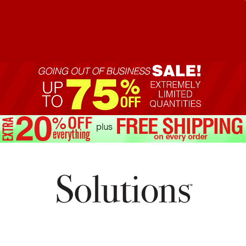 Solutions : Going Out of Business Sale