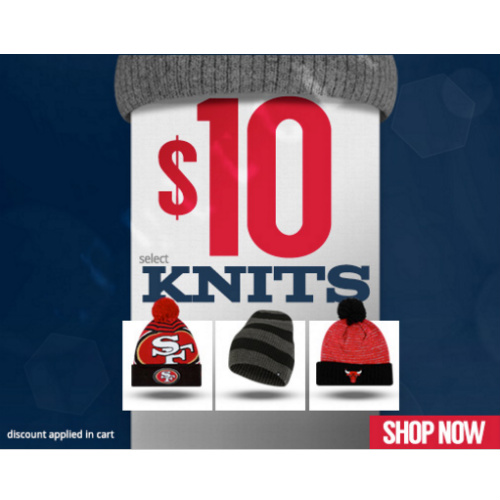 Sports Team Knit Beanies : Only $10