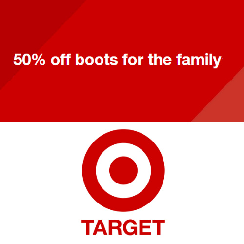 Target : 50% off + Free S/H on Boots
