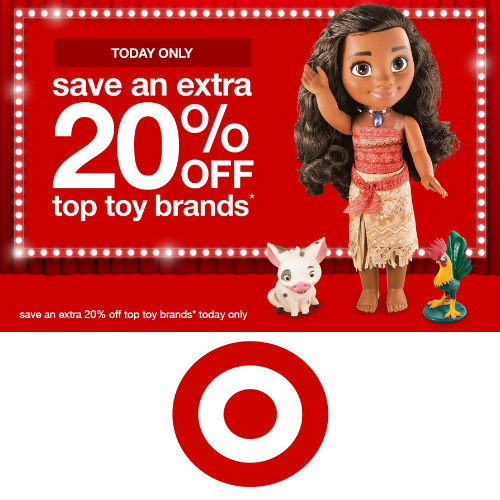 Target : 20% off Top-Brand Toys
