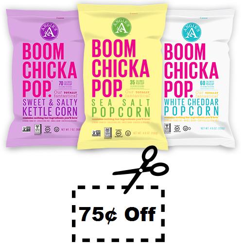 Boom Chicka Pop Popcorn : 75¢ off coupon