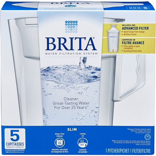 Brita Slim Water Pitcher : Only $6.19