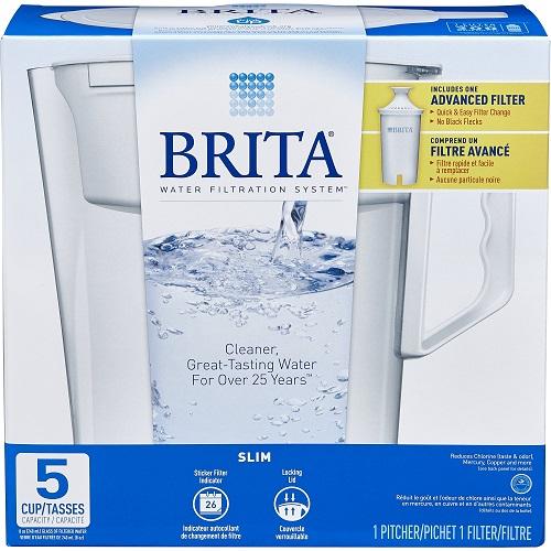 Brita Slim Water Pitcher : Only $6.19