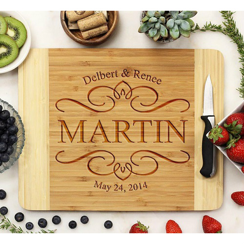 Personalized 11×14 Bamboo Cutting Board : $24.99 + Free S/H