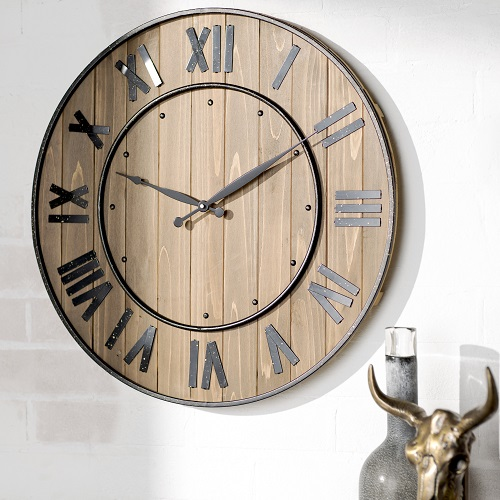 Wine Barrel Wall Clock : Only $46.99