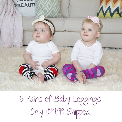 5 Pairs of Baby Leggings : Only $14.99 Shipped