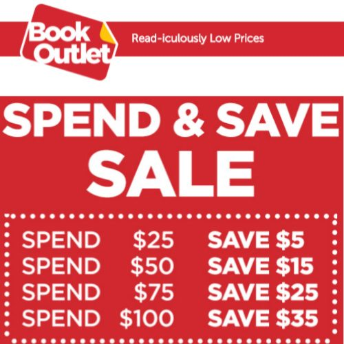 BookOutlet : $5 off $25, $15 off $50, $25 off $75, or $35 off $100