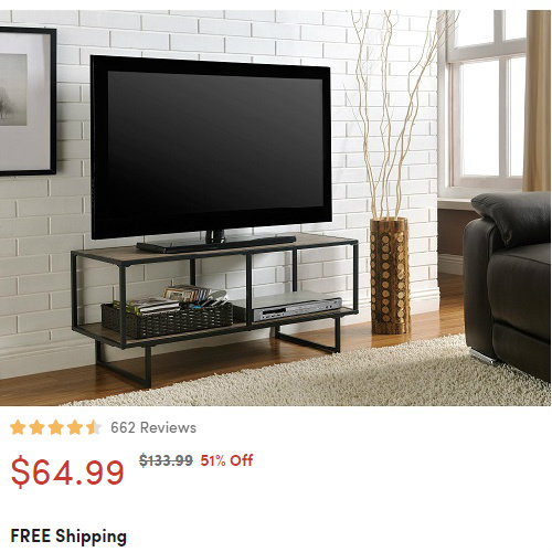 Industrial Style TV Stand : $64.99 + Free S/H