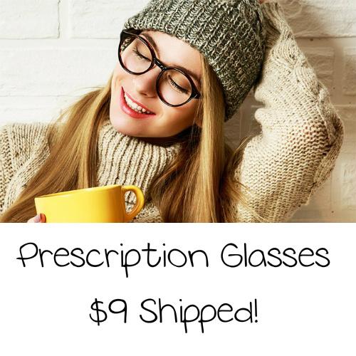 Prescription Eyeglasses : $9 Shipped