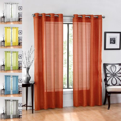76% off Sheer Curtain Panels : $5.99 + Free S/H
