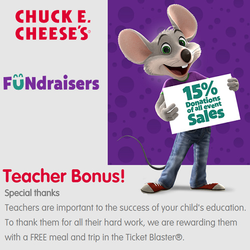 Chuck E. Cheese Fundraisers : Free Info