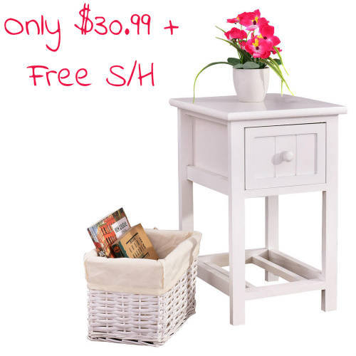 Compact Nightstand w/Basket : $30.99 + Free S/H