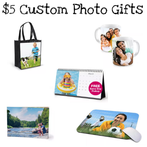 Up to 61% off Custom Photo Gifts : Only $5
