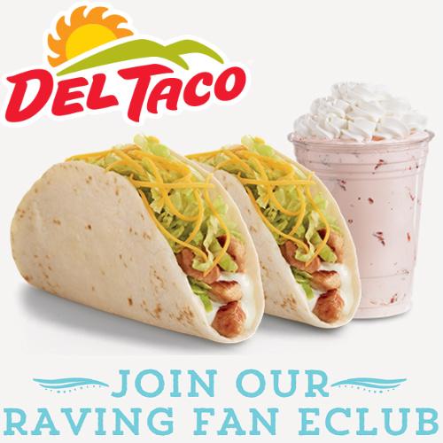 Del Taco : 2 Free Chicken Tacos & a Shake