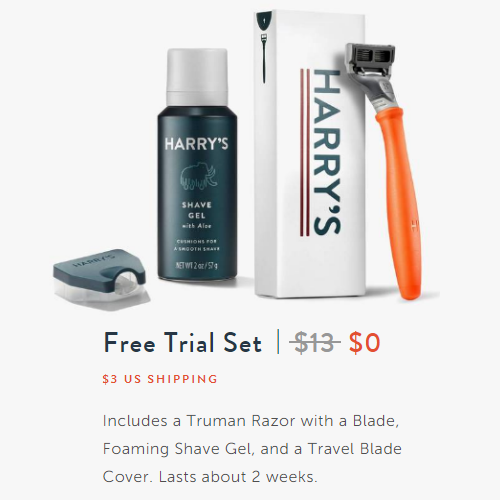 77% off Harry's Razor Set : Only $3 Shipped