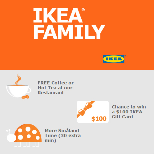 ikea family program free coffee more. Black Bedroom Furniture Sets. Home Design Ideas