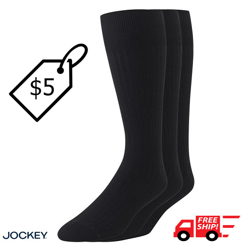 73% off 3-PK of Men's Jockey Socks : $4.99 + Free S/H