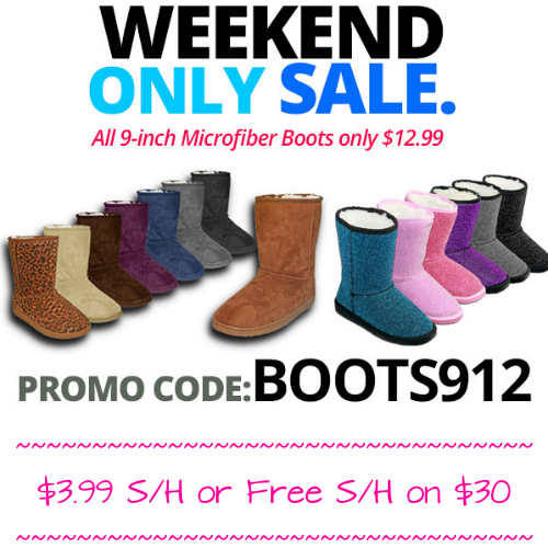 Women's 9″ Microfiber Boots : Only $12.99