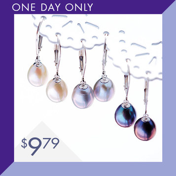 Pearl Drop Earrings : Only $9.79