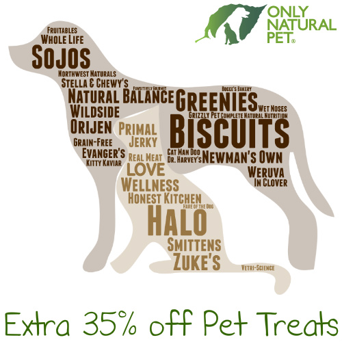 Only Natural Pet : 35% off + Free S/H on Pet Treats