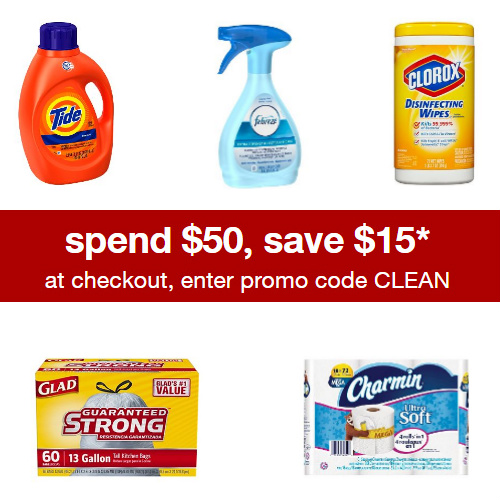 Target : $15 off $50 + Free S/H on Household Essentials