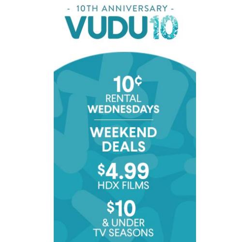 Vudu : 10¢ First Rental