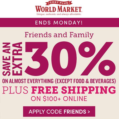 World Market : Extra 30% off Everything