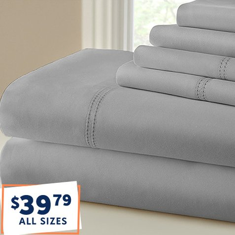 Up to 90% off 1,000-TC Sheet Sets : Only $39.79 any size