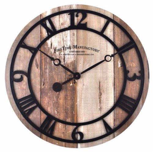 Faux Barnwood Wall Clock : $31.59 + Free S/H