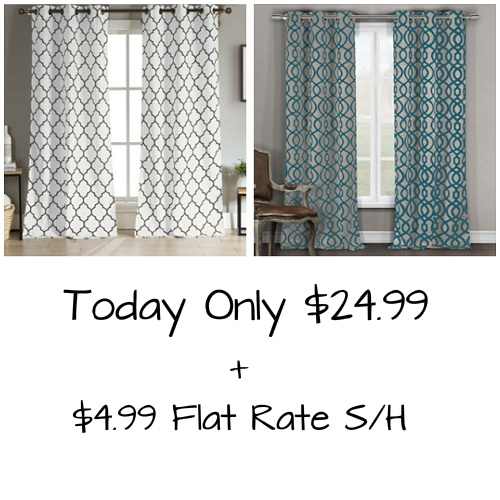 Geometric Design Blackout Curtains : Only $24.99