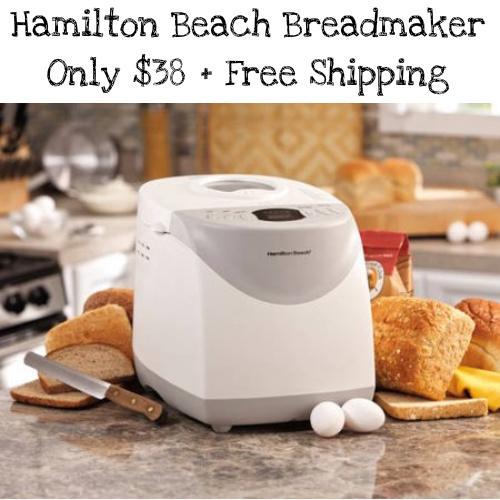46% off Hamilton Beach 2-LB Breadmaker : Only $38 + Free S/H