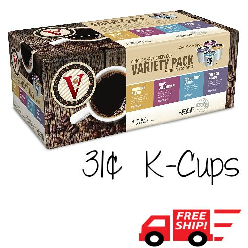 40% off 96-CT Victor Allen's Coffee Variety Pack K-Cups : $29.99 + Free S/H