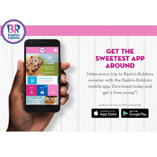 Baskin Robbins : Free Scoop of Ice Cream