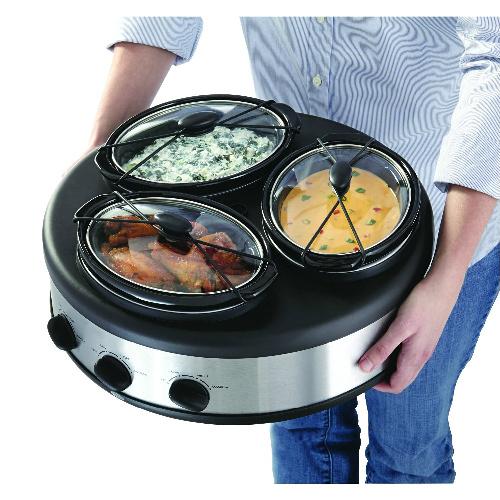 Chefman 3-Crock Slow Cooker : Only $29.99