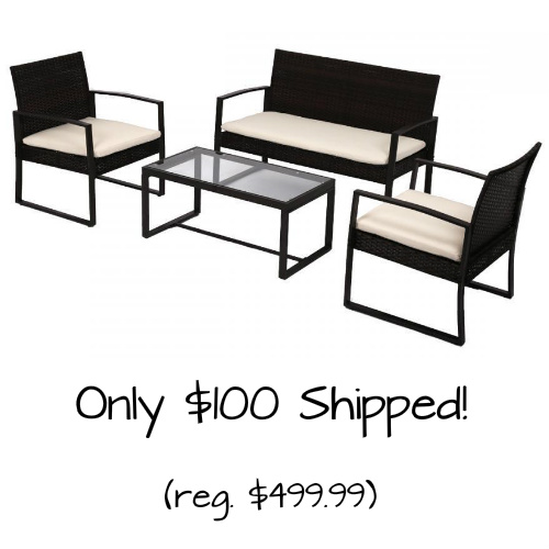 4-PC Patio Seating Set : $100 + Free S/H
