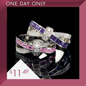 Crisscross Rings : Only $11.49