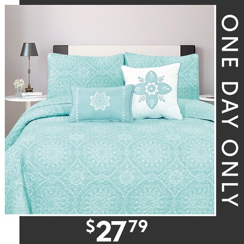 Up to 77% off 5-PC Quilt Sets : Only $27.79