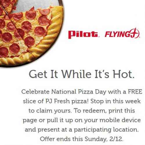 Flying J and Pilot Stores : Free Slice of Pizza