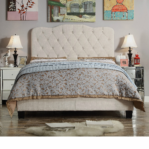 Full-Size Upholstered Panel Bed : $168.30 + Free S/H
