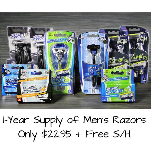 1-Year Supply of Men's Razors : $22.95 + Free S/H